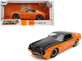 1979 Chevrolet Camaro Z28 Black Orange Bigtime Muscle 1/24 Diecast Model Car Jada 31669