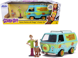 The Mystery Machine Shaggy Scooby-Doo Figurines Scooby-Doo 1/24 Diecast Model Car Jada 31720