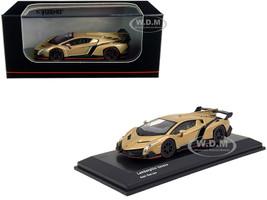Lamborghini Veneno Gold Red Line 1/64 Diecast Model Car Kyosho KS07040A1