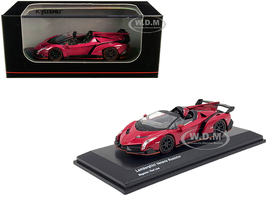 Lamborghini Veneno Roadster Magenta Red Line 1/64 Diecast Model Car Kyosho KS07040A3
