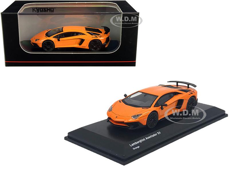 Lamborghini Aventador SV Orange 1/64 Diecast Model Car Kyosho KS07065A2