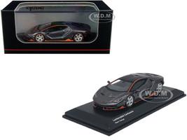Lamborghini Centenario Black Metallic Orange Accents 1/64 Diecast Model Car Kyosho KS07065A3