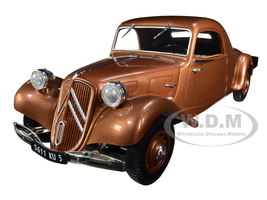 1939 Citroen Traction Avant 11B Coupe Brown Metallic 1/18 Diecast Model Car Norev 181441