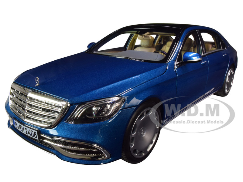 2019 Mercedes Maybach S 650 Blue Metallic 1/18 Diecast Model Car Norev 183425