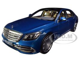 2019 Mercedes Maybach S 650 Blue Metallic 1/18 Diecast Model Car Norev 183425