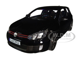 2009 Volkswagen Golf VI GTI Black 1/18 Diecast Model Car Norev 188502