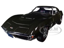 1969 Chevrolet Corvette Stingray Dark Green Metallic 1/18 Diecast Model Car Norev 189030