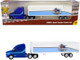 2000's Semi Tractor Trailer Truck Blue White Paul Bunyan Trucking LLC TraxSide Collection 1/87 HO Scale Diecast Model Classic Metal Works TC106