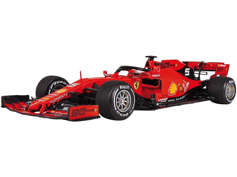 Ferrari SF90 #5 Sebastian Vettel 2nd Place Formula One F1 Canadian GP 2019 1/18 Model Car LookSmart LS18F1021