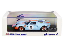 Ford GT40 #9 Pedro Rodriguez Lucien Bianchi Gulf Oil Winners 24 Hours of Le Mans 1968 1/43 Model Car Spark 43LM68