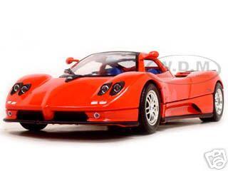 pagani zonda c12 red 1/18 diecast model car motormax 73147