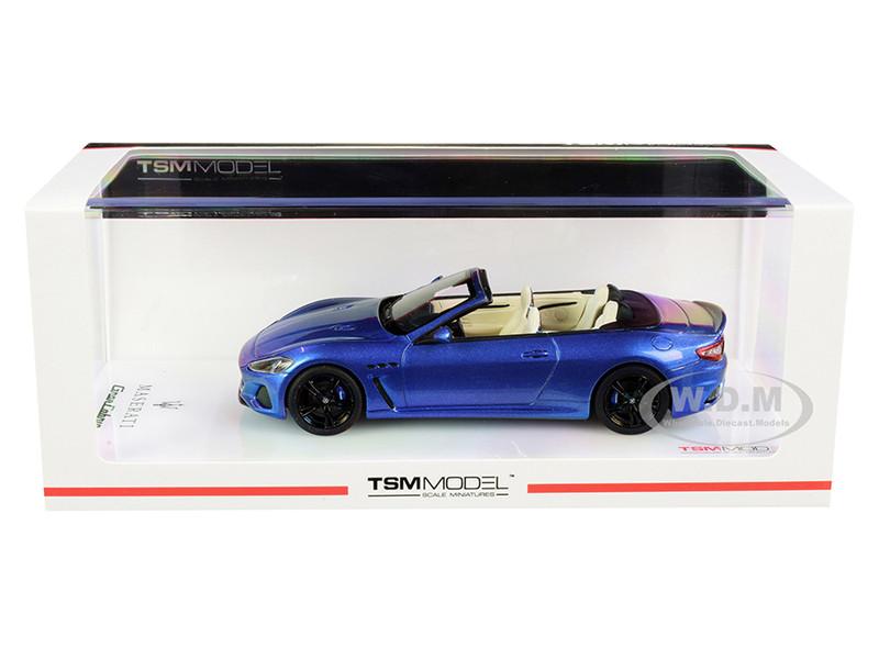 Maserati GranCabrio Convertible Blu Sofisticato Blue Metallic 1/43 Model Car True Scale Miniatures 430459