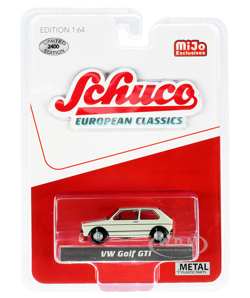 Volkswagen Golf GTI Cream European Classics Series Limited Edition 2400 pieces Worldwide 1/64 Diecast Model Car Schuco 4600