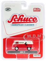 Volkswagen T1 Panel Bus Ferrari Automobiles Red Cream European Classics Series Limited Edition 3600 pieces Worldwide 1/64 Diecast Model Schuco 4700