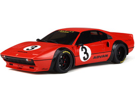 Ferrari LB Works 308 #3 ADVAN Red Black Wheels 1/18 Model Car GT Spirit GT270