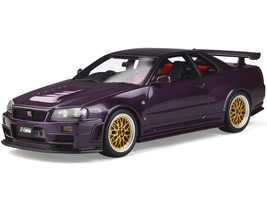 Nissan Skyline GT-R Nismo Z-Tune R34 Midnight Purple Metallic Gold Wheels Limited Edition 2000 pieces Worldwide 1/18 Model Car Otto Mobile OT811