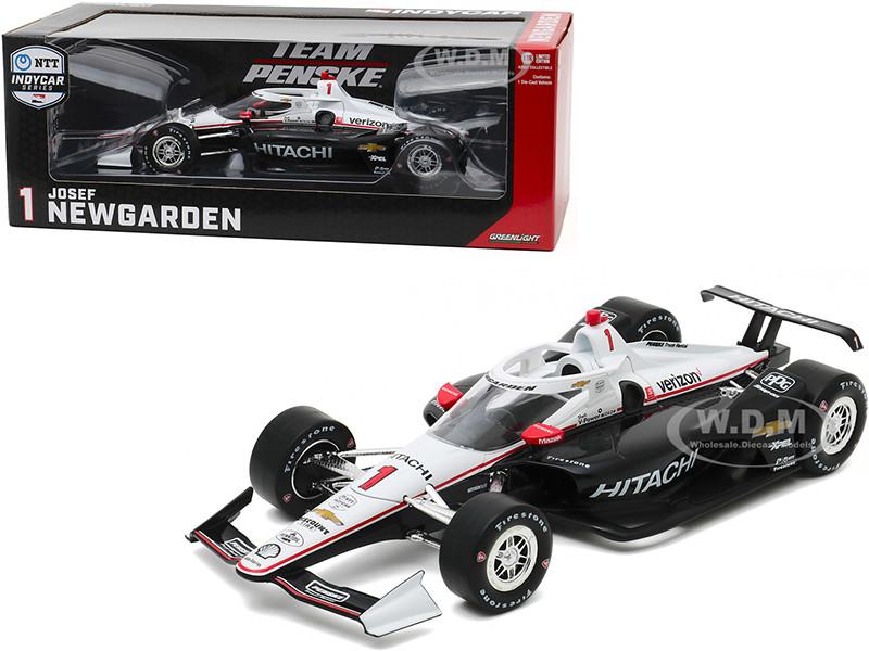 Dallara IndyCar #1 Josef Newgarden Hitachi Team Penske NTT IndyCar Series 2020 1/18 Diecast Model Car Greenlight 11085