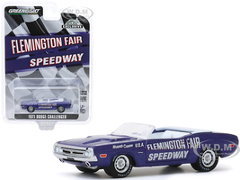 1971 Dodge Challenger Convertible Official Pace Car Purple Flemington Fair Speedway Hobby Exclusive 1/64 Diecast Model Car Greenlight 30146