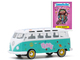 Volkswagen Samba Bus Peace Turquoise Hippie Skippy Garbage Pail Kids Series 2 1/64 Diecast Model Greenlight 54030 B