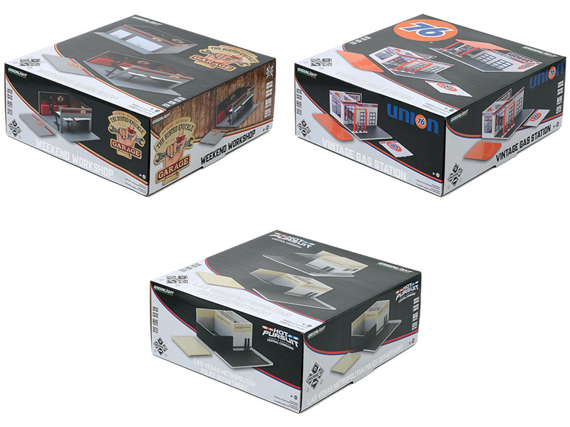 Mechanic's Corner Series 6 3 piece Diorama Set for 1/64 Scale Models Greenlight 57061 57062 57063