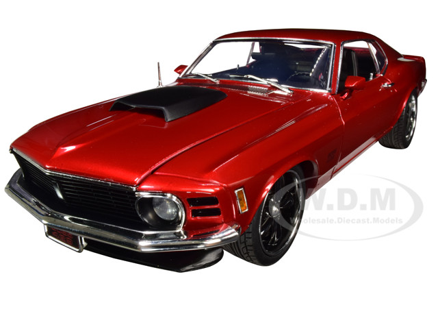 1970 Ford Boss 429 Mustang Street Fighter Candy Red Metallic Limited Edition 700 pieces Worldwide 1/18 Diecast Model Car ACME A1801836