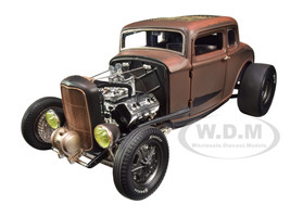 Pork Chop's 1932 Ford Rat Rod 190 Proof Five Window Brown Dirty Version Limited Edition 930 pieces Worldwide 1/18 Diecast Model Car ACME A1805017