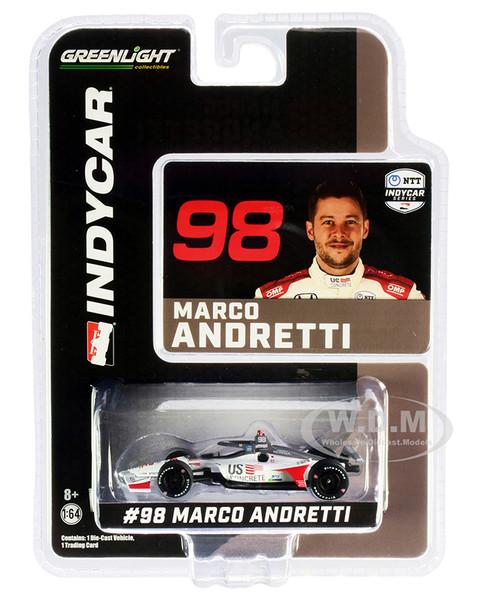 Dallara IndyCar #98 Marco Andretti U.S. Concrete Andretti Herta Autosport NTT IndyCar Series 2020 1/64 Diecast Model Car Greenlight 10865