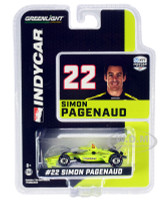 Dallara IndyCar #22 Simon Pagenaud Menards Team Penske NTT IndyCar Series 2020 1/64 Diecast Model Car Greenlight 10870