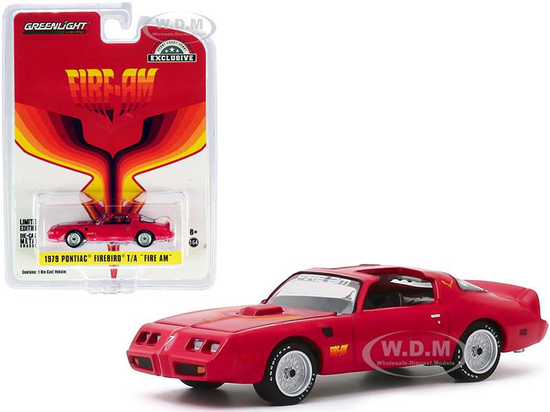 1979 Pontiac Firebird Trans Am Fire Am Red Hood Bird Hobby Exclusive 1/64 Diecast Model Car Greenlight 30147