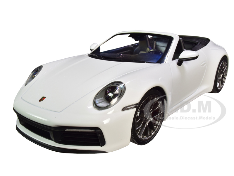 2019 Porsche 911 Carrera 4S Cabriolet White Limited Edition 504 pieces Worldwide 1/18 Diecast Model Car Minichamps 155067330