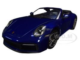 2019 Porsche 911 Carrera 4S Cabriolet Dark Blue Metallic Limited Edition 504 pieces Worldwide 1/18 Diecast Model Car Minichamps 155067332