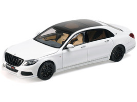 Mercedes-Maybach Brabus 900 S-Class Diamond White 1/18 Diecast Model Car Almost Real 860101