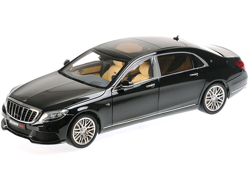 Mercedes-Maybach Brabus 900 S-Class Obsidian Black 1/18 Diecast Model Car Almost Real 860102