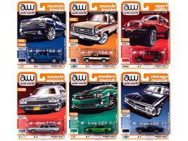 Autoworld Muscle Cars Premium 2020 Release 2 Set A of 6 pieces 1/64 Diecast Model Cars Autoworld 64252 A