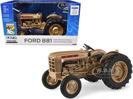 Ford 881 Gold Demonstrator Tractor Prestige Collection 1/16 Diecast Model Ertl Tomy 13937