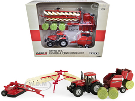 Case IH Haying Set of 5 pieces Case IH Agriculture 1/64 Diecast Model ERTL TOMY 44078