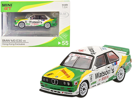 BMW M3 E30 #6 Emanuele Pirro Watson's Team Schitzer Winner Guia Race of Macau 1991 Hong Kong Exclusive 1/64 Diecast Model Car True Scale Miniatures MGT00055
