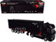 Mercedes Benz Actros Trailer 40' Container Black 1/64 Diecast Model True Scale Miniatures MGT000131