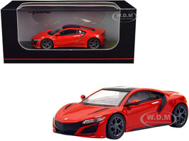 Honda NSX RHD Right Hand Drive Red Black Top 1/64 Diecast Model Car Kyosho KS07066A1