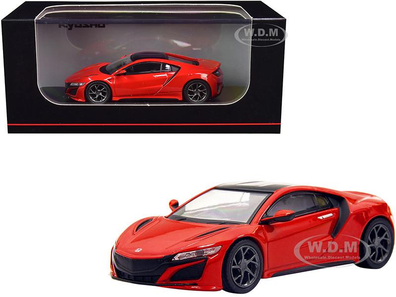 Honda NSX RHD Right Hand Drive Red Black Top 1/64 Diecast Model Car Kyosho KS07066A1