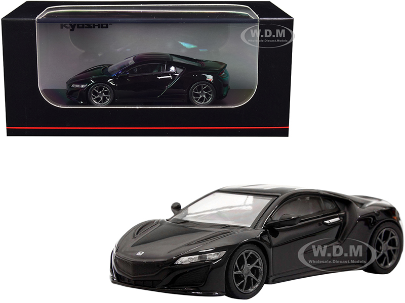 Honda NSX RHD Right Hand Drive Black 1/64 Diecast Model Car Kyosho KS07066A2