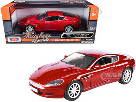 Aston Martin DB9 Coupe Red Timeless Legends 1/24 Diecast Car Model Motormax 73321