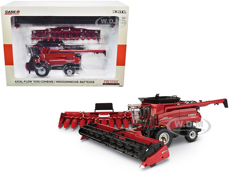 Case IH Axial-Flow 9250 Combine Draper Head Folding Corn Head Prestige Collection 1/32 Diecast Model ERTL TOMY 44164