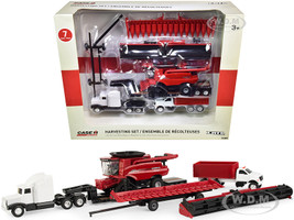 Case IH Harvesting Set of 7 pieces Case IH Agriculture 1/64 Diecast Models ERTL TOMY 44165