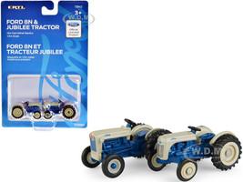 Ford 8N Ford Jubilee Blue Gray Set of 2 Tractors 1/64 Diecast Models ERTL TOMY 13942