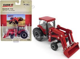 Case IH Magnum 7110 Tractor Loader Red Case IH Agriculture 1/64 Diecast Model ERTL TOMY 14930