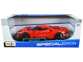 2017 Ford GT Red with Black Wheels Special Edition 1/18 Diecast Model Car Maisto 31384