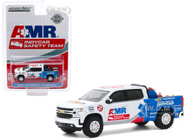 2020 Chevrolet Silverado Pickup Truck AMR IndyCar Safety Team Safety Equipment in Truck Bed Hobby Exclusive 1/64 Diecast Model Car Greenlight 30179