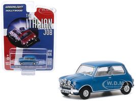 1967 Austin Mini Cooper S 1275 MkI Blue The Italian Job 1969 Movie Hollywood Series Release 28 1/64 Diecast Model Car Greenlight 44880 A