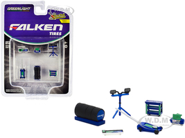 Falken Tires 6 piece Shop Tools Set Shop Tool Accessories Series 3 1/64 Greenlight 16060 A